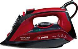 Bosch Dampfbügeleisen TDA503001P,sparsame eco Dampfstufe, 200g Dampfstoß, 3fach-Entkalkung, 3.000 Watt, schwarz/rot