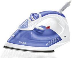 AEG Dampfbügeleisen Perfect DB 1350-2 (2100 Watt, 75g Dampfstoß, 0-30g variabler Dampf, kratzfeste Inox Edelstahlsohle, Anti-Kalk-System) blau/weiß