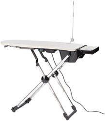Sichler Haushaltsgeräte Bügelbrett: Aktiv-Bügeltisch mit Gebläse-Funktion für faltenfreies Bügeln, 11 Watt (Bügelbrett für Dampfbügelstation)