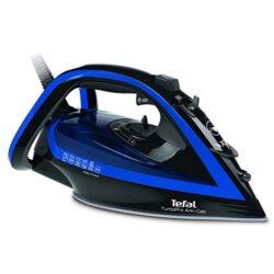 Tefal Turbo Pro Anti-Kalk Dampfbügeleisen FV5648 | 220 g/Min. Dampfstoß | 2600 W | Vertikaldampf | Automatische Abschaltung | dunkelgrau/ velvet-blau